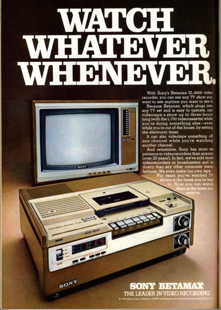 The end of Sony's Betamax video tape: but the format wars continue in a digital world
