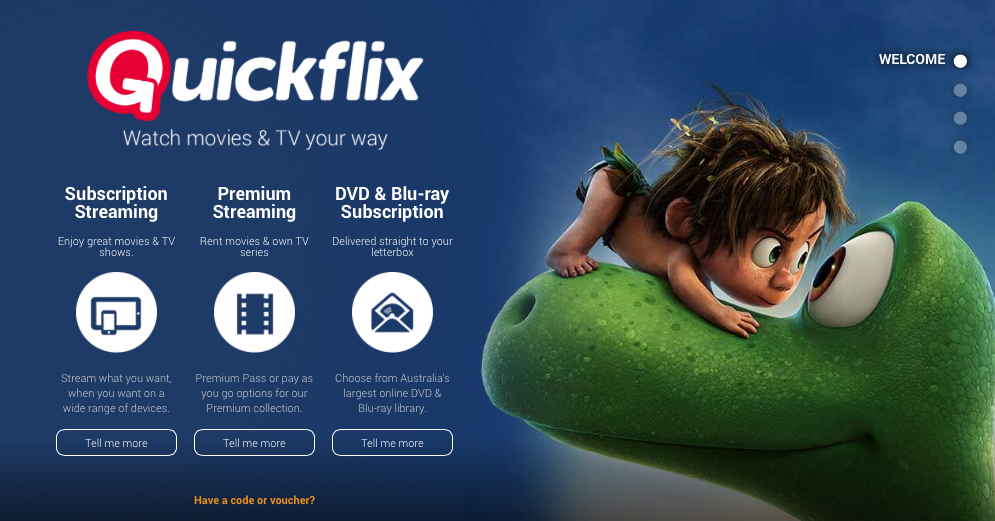A shake-up in Australia's busy TV industry as Quickflix calls in the administrators